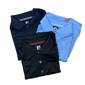 3 FootJoy poly/spandex polo shirts size S